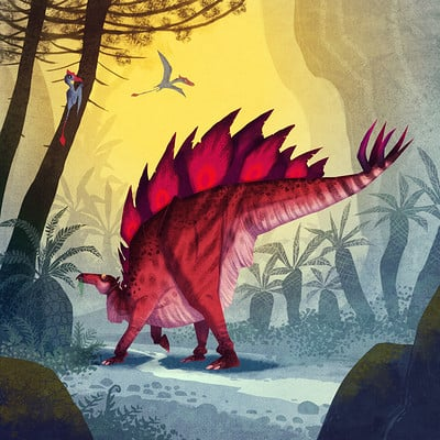 Johan egerkrans stegosaurus