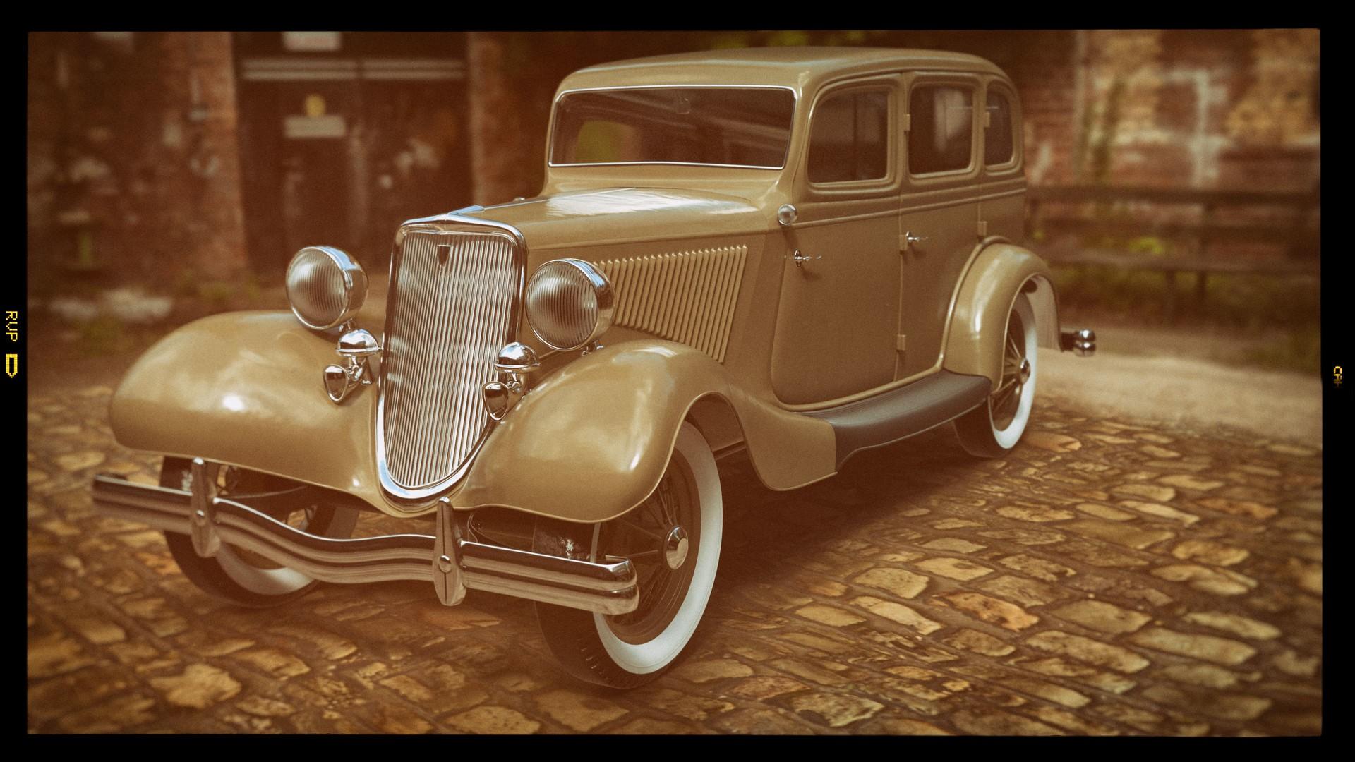 artstation ford model 40 bonnie clyde deathcar dan oliver finke