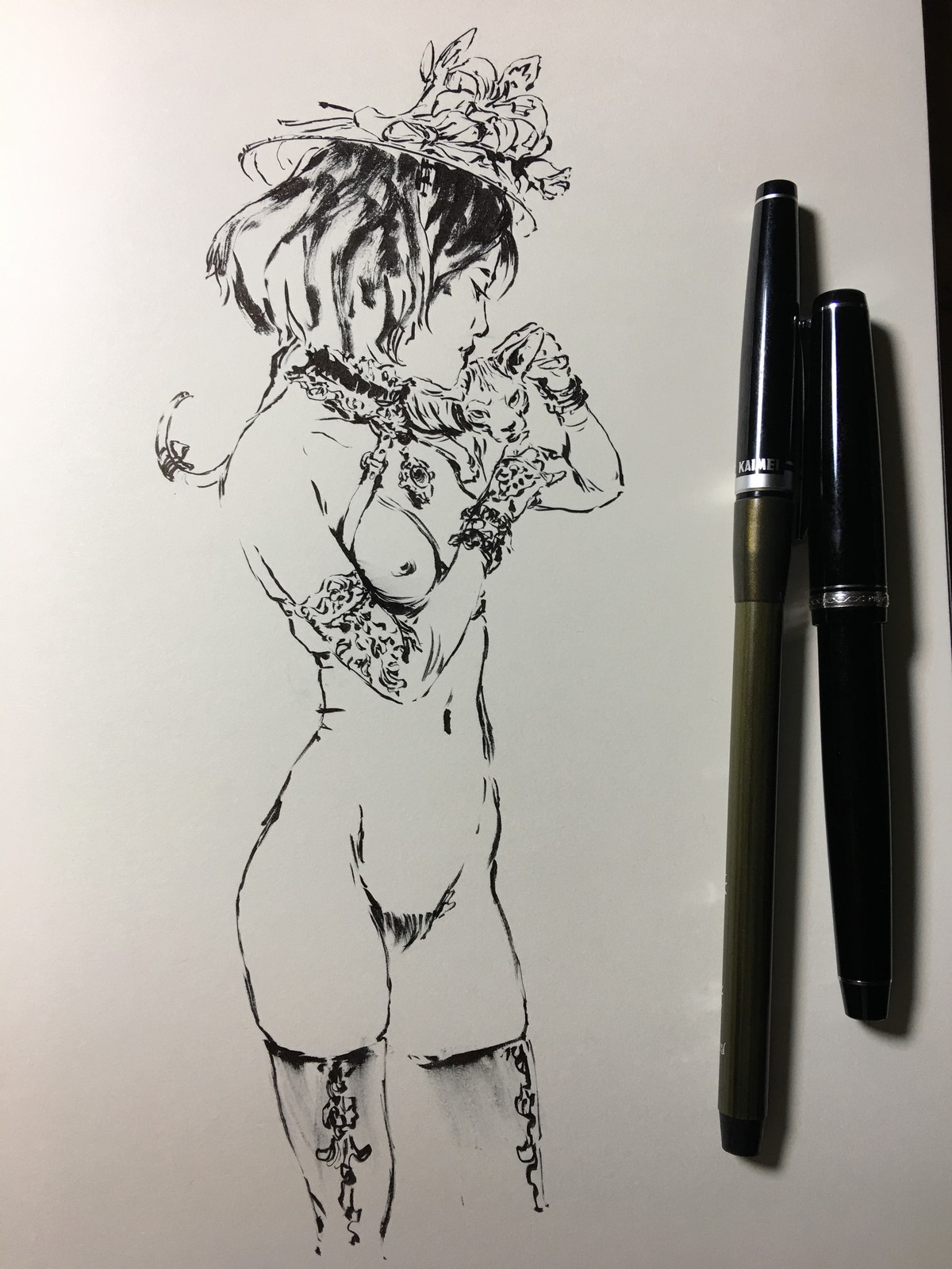 INKTOBER - BRUSHED GIRLS #2