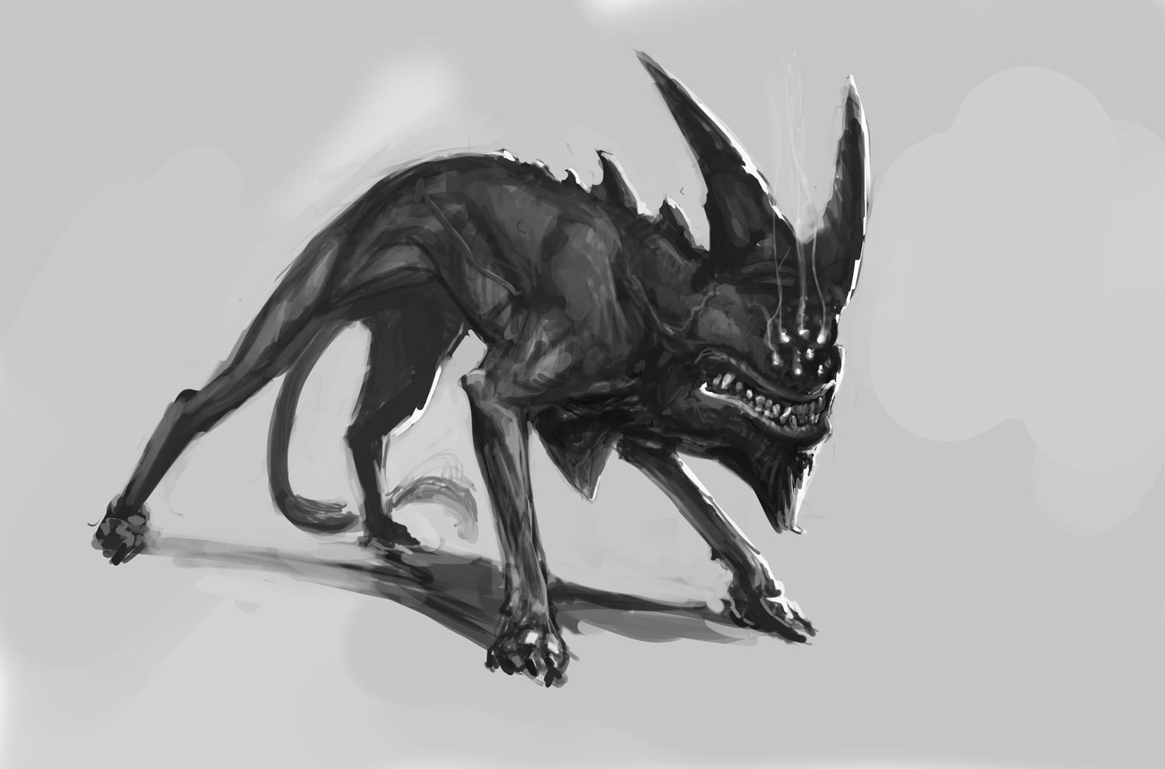 Carlo spagnola hellhound sketch