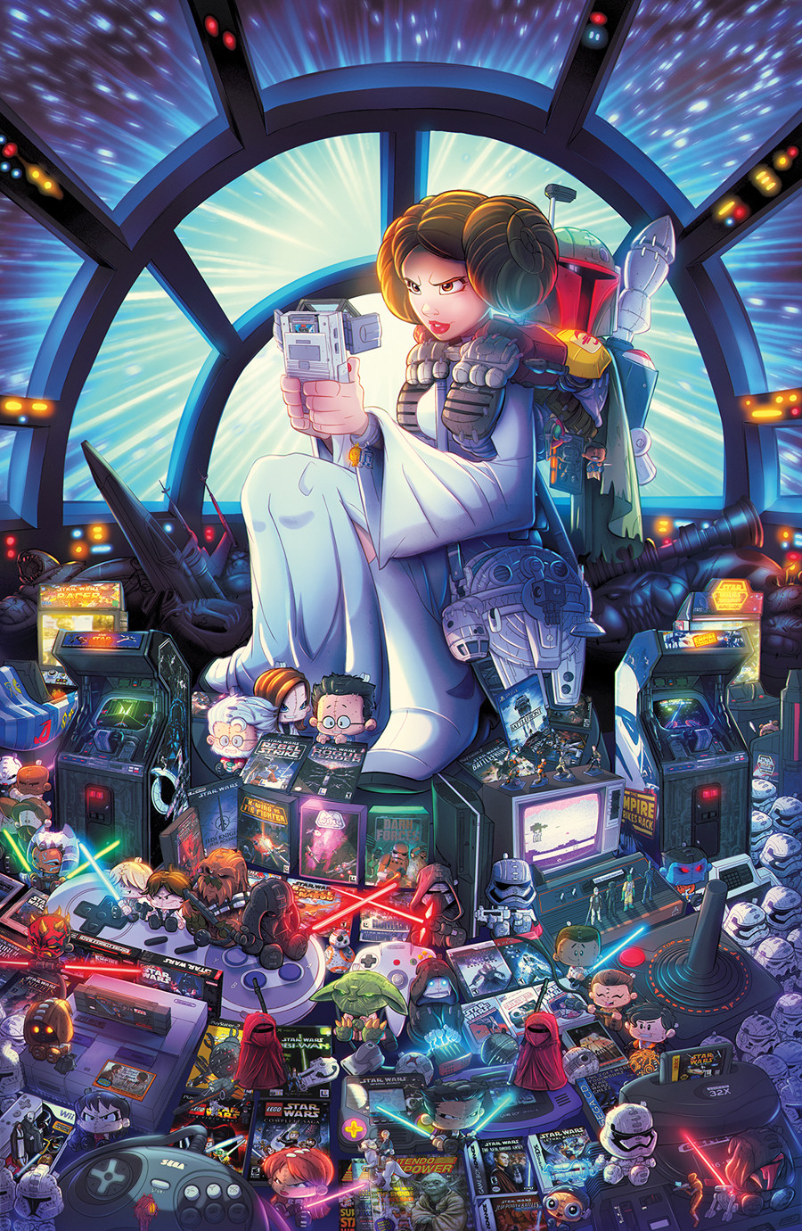 Star Wars Retrogaming Cover Art