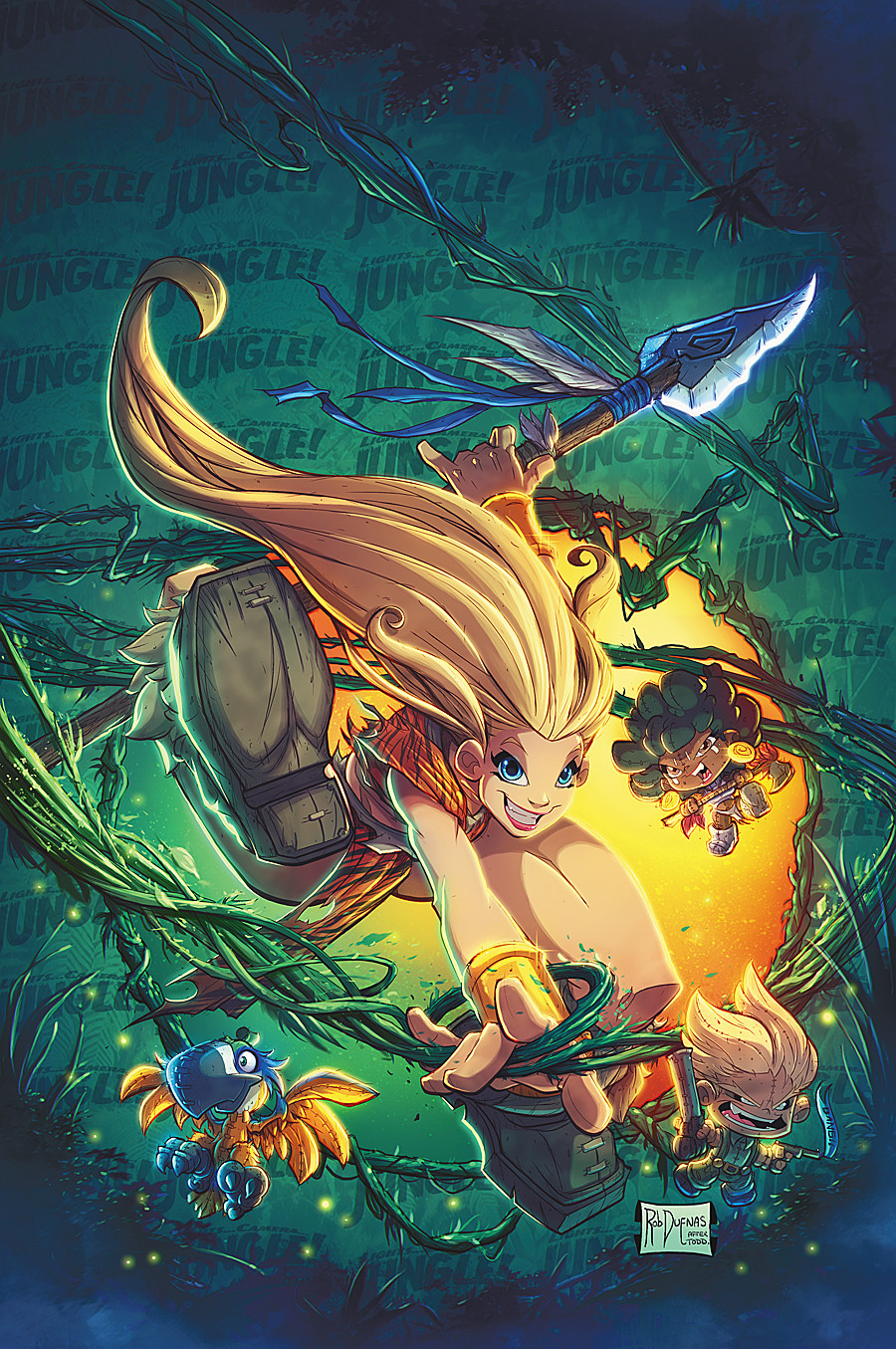 Rob duenas cover art lights camera jungle colors by robduenas dact1o6