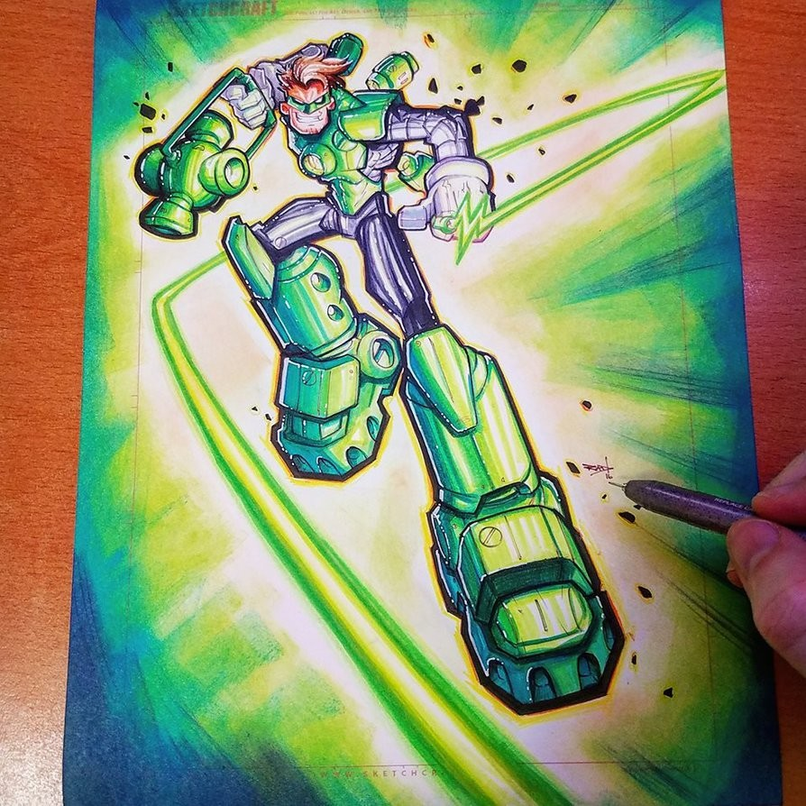 Green Lantern Copic Commish