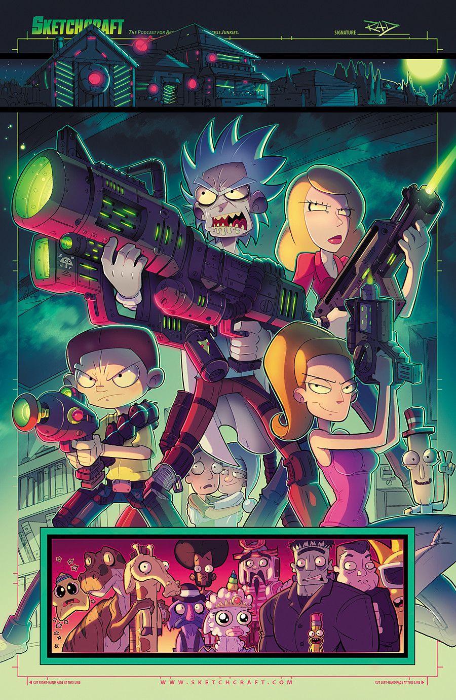 Rob duenas rick and morty total rickall tribute by robduenas damkmy2