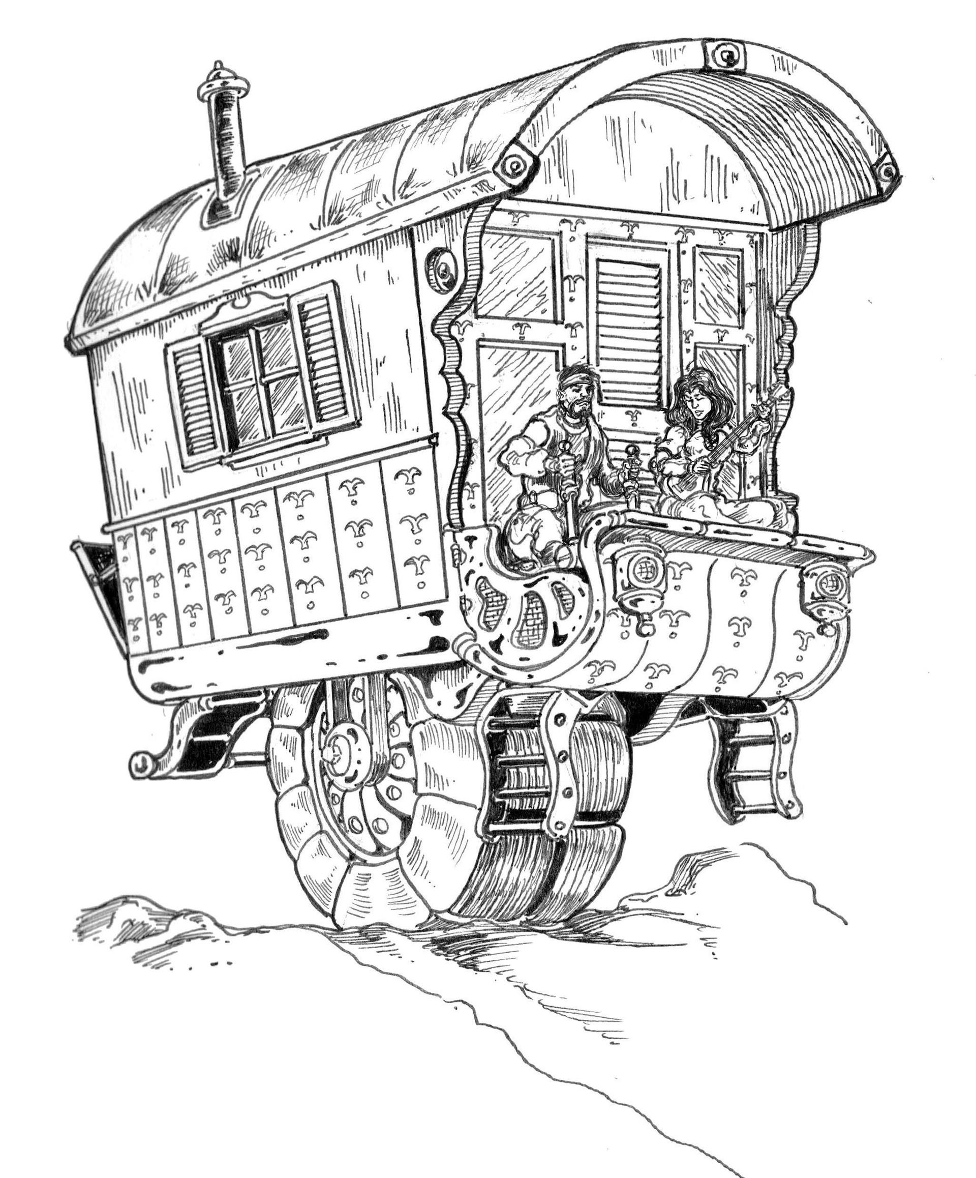 Vincent bryant 12 gypsy wagon