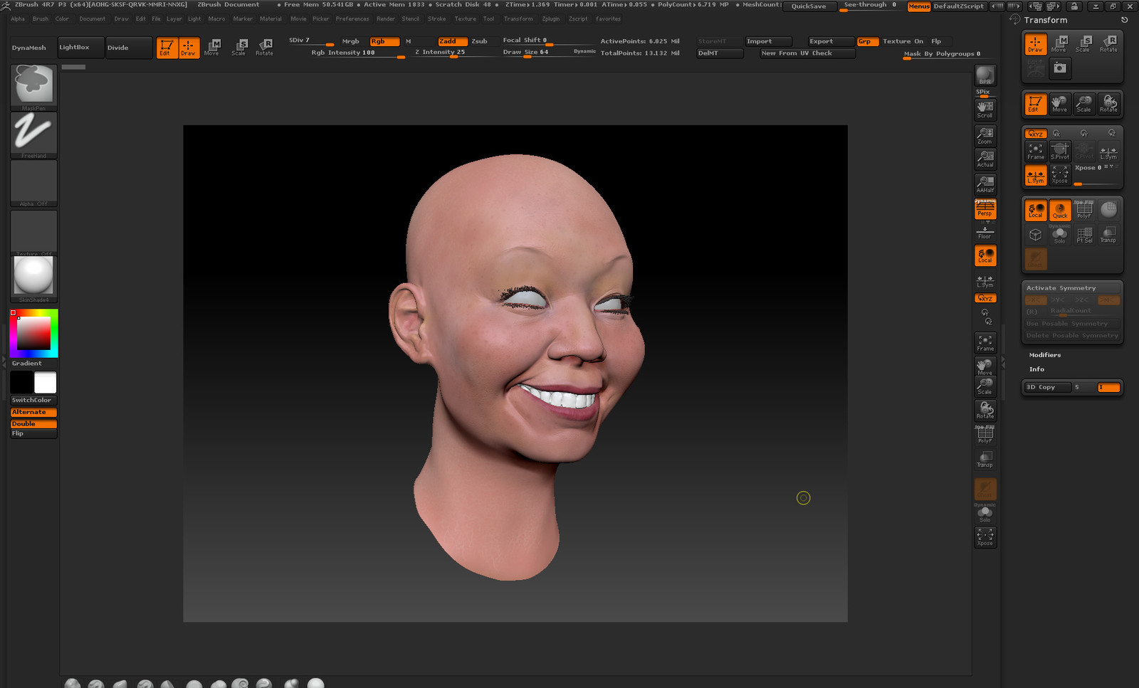 ZBrush sculpt and rough polypaint