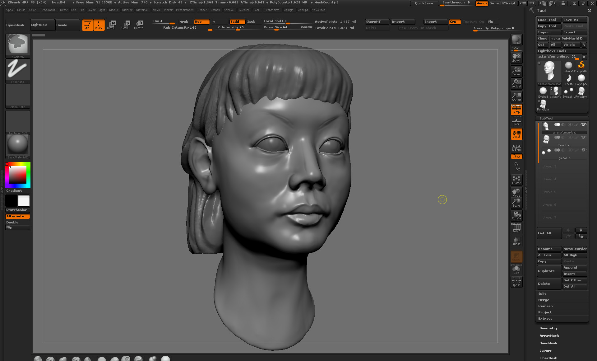 Early rough ZBrush sculpt