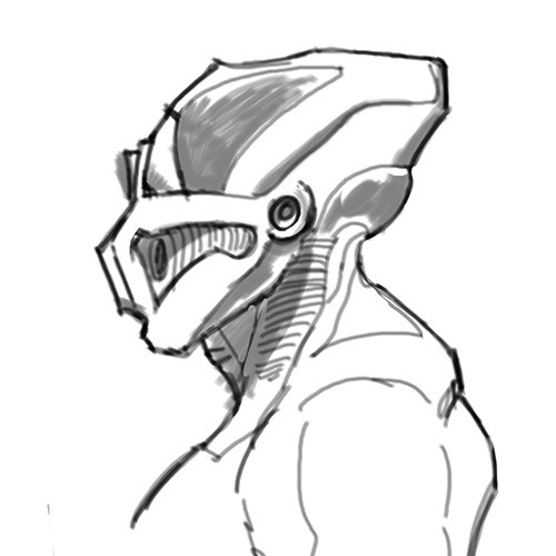 side view sketch