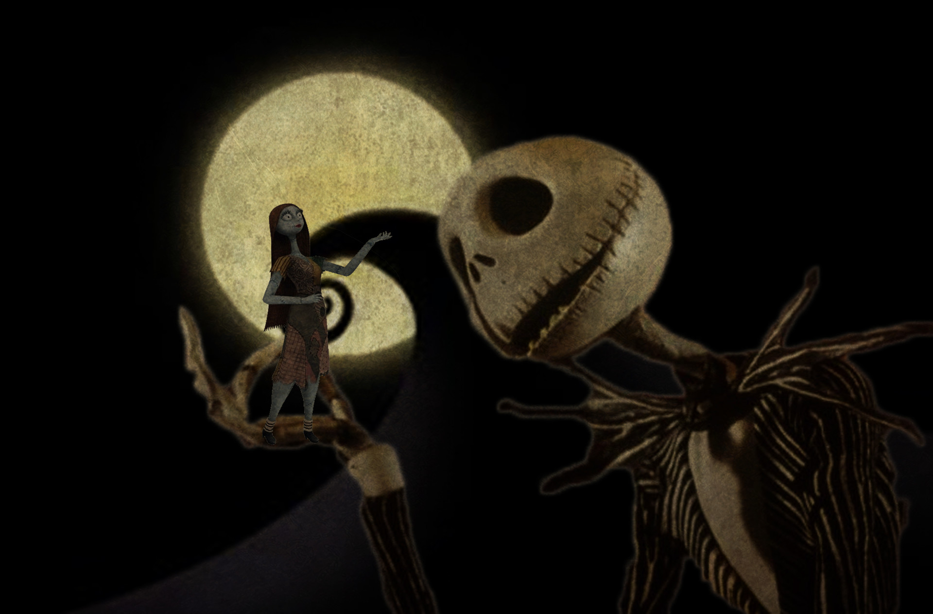 Artstation The Nightmare Before Christmas Jack And Sally Mr Ka Artwork The nightmare before christmas is a tim burton film in the sense that the story, its world and its look first took shape in burton's mind, and he supervised their filming. the nightmare before christmas jack and