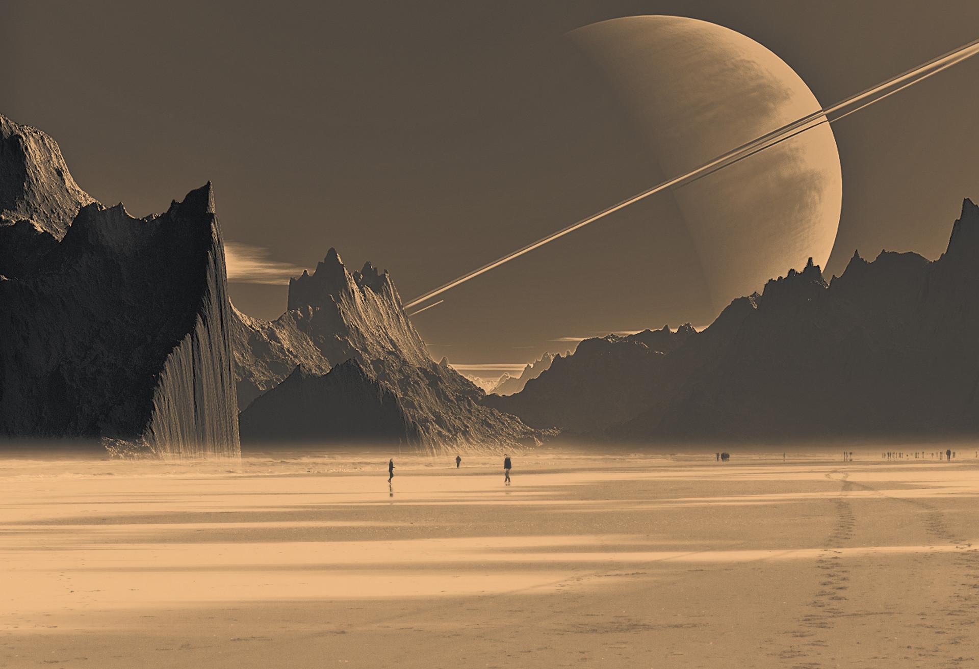Artstation Saturn S Moon Titan Dusan Trajkovic