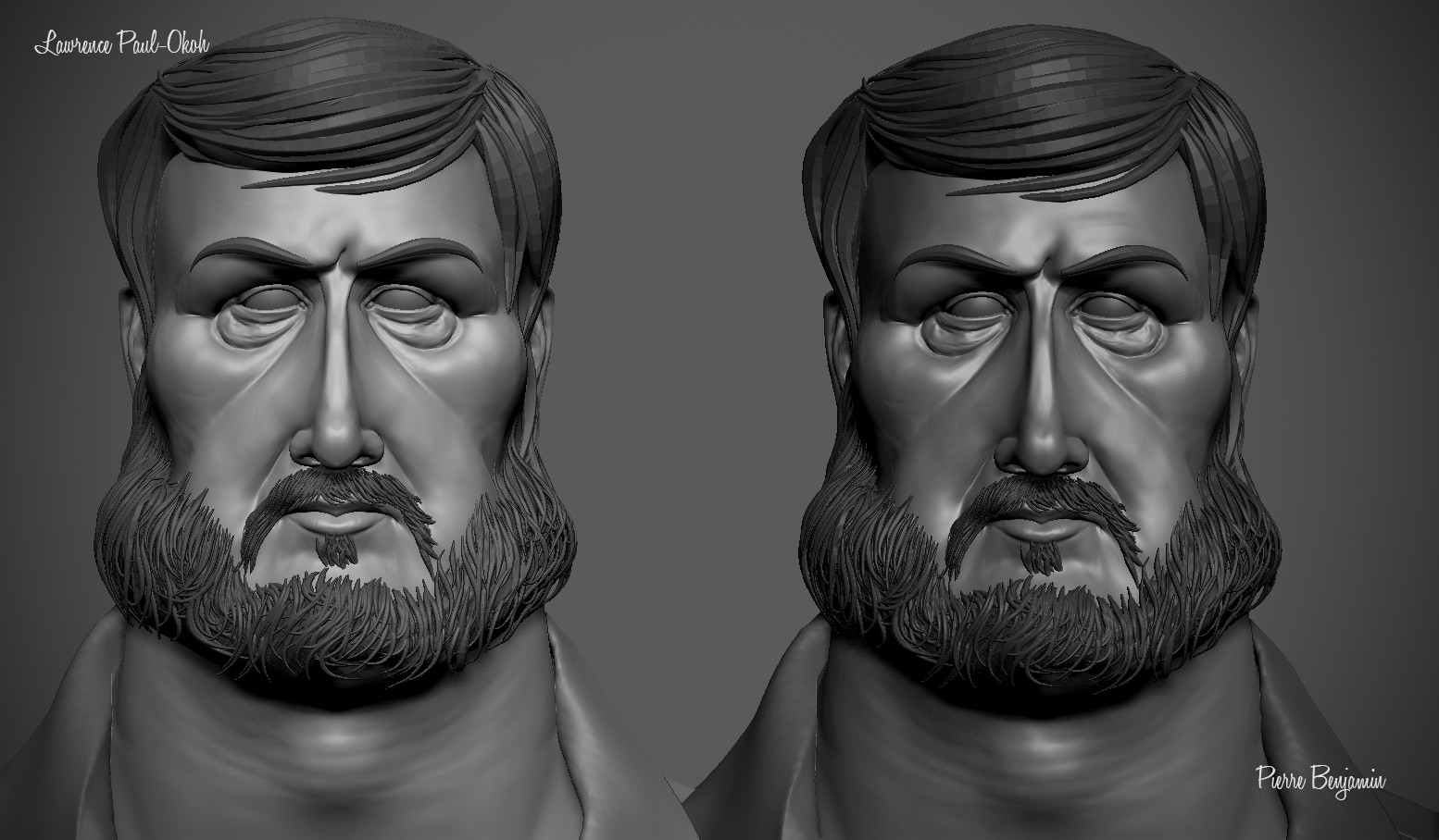 """WIP 3D Sculpt of a 2D concept of """"scruffy"""" by LAWRENCE PAUL-OKOH"""