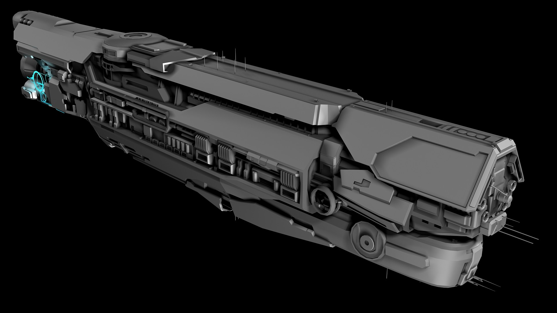 ArtStation - UNSC Infinity-class warship WIP, Jared Harris