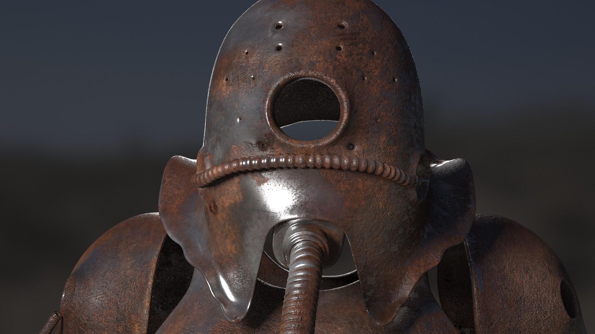 helmet render vray