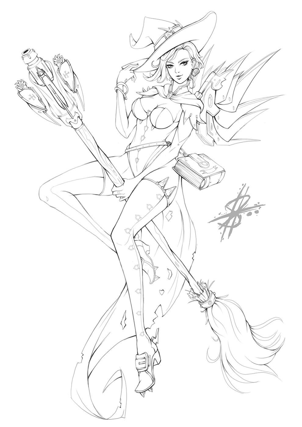 Halloween Mercy Sketch