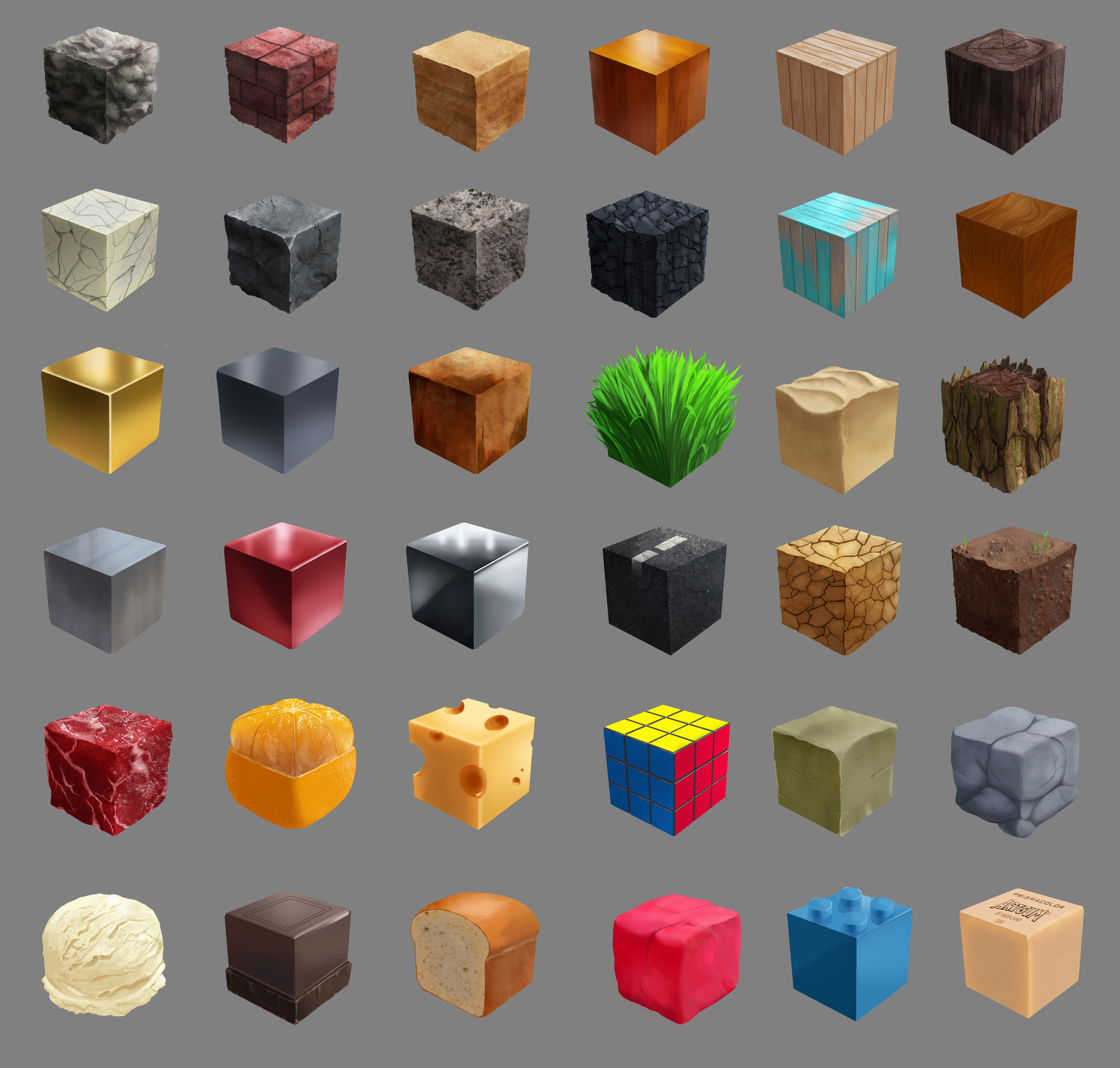 Brandon Liu Cube Textures