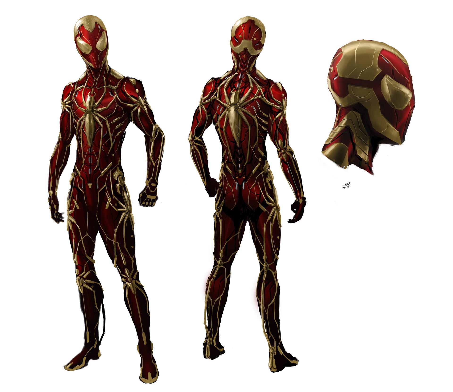 город-призрак состоящий арты костюма человека паука тем как