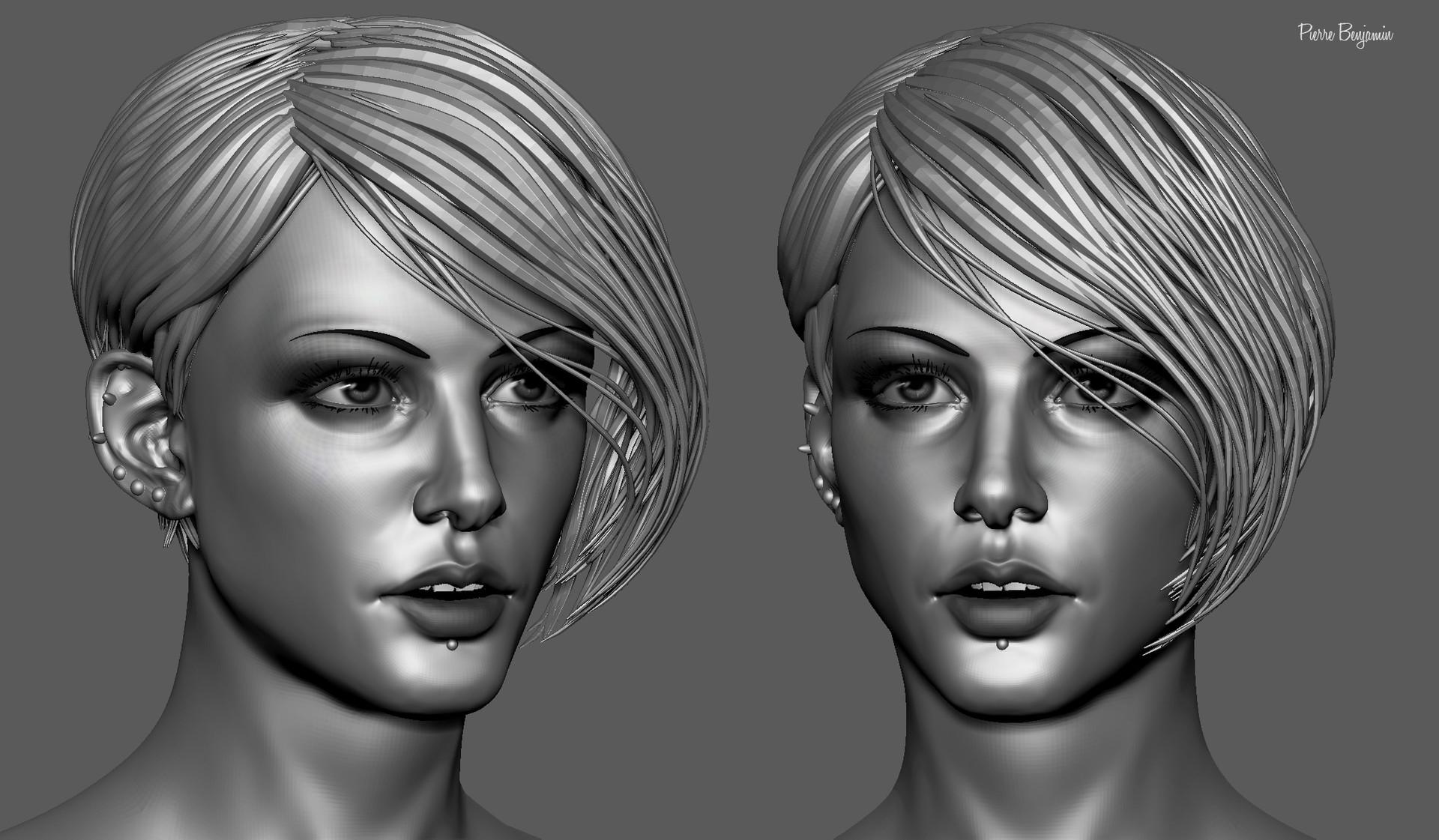 Pierre benjamin stylish woman short hair sculpt 002
