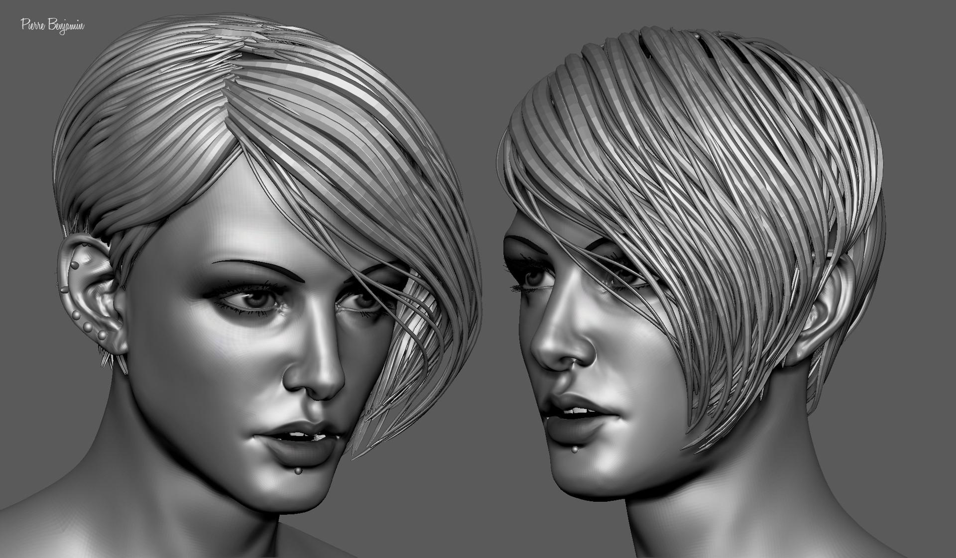 Pierre benjamin stylish woman short hair sculpt 004