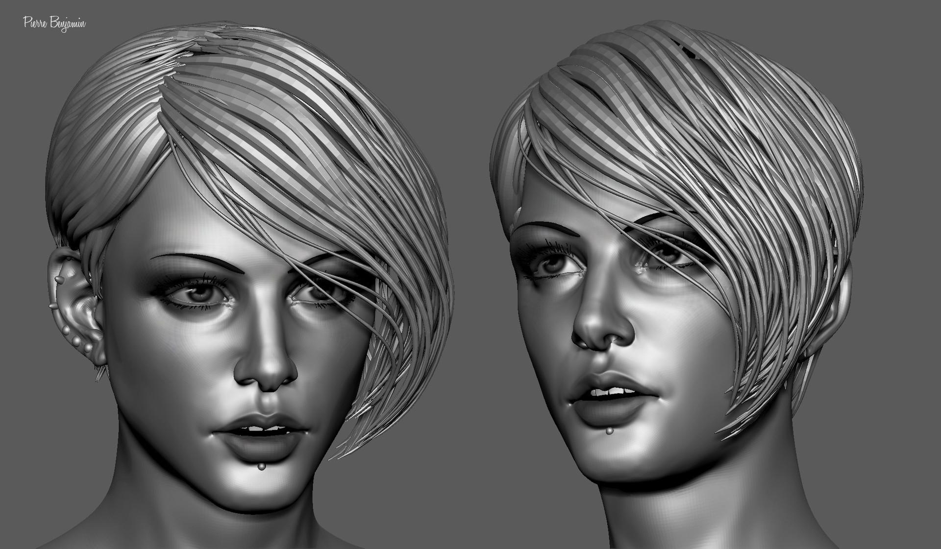 Pierre benjamin stylish woman short hair sculpt 007
