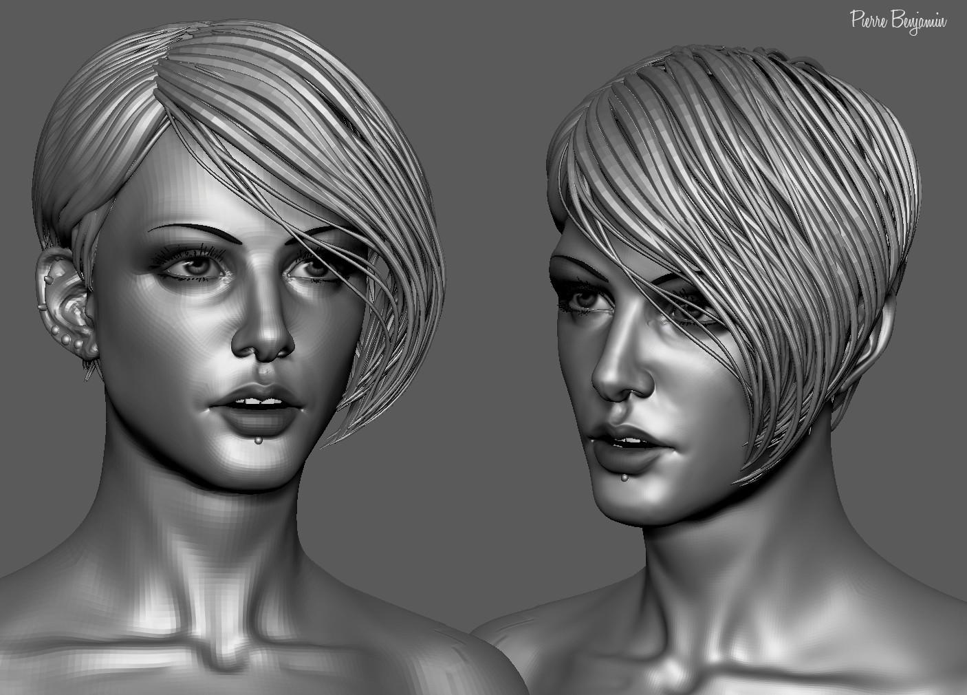 Pierre benjamin stylish woman short hair sculpt 001