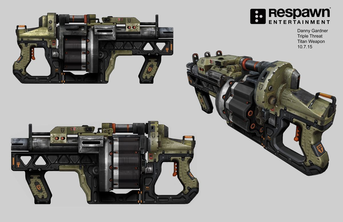 ArtStation - Titanfall 2 Weapons, Danny Gardner