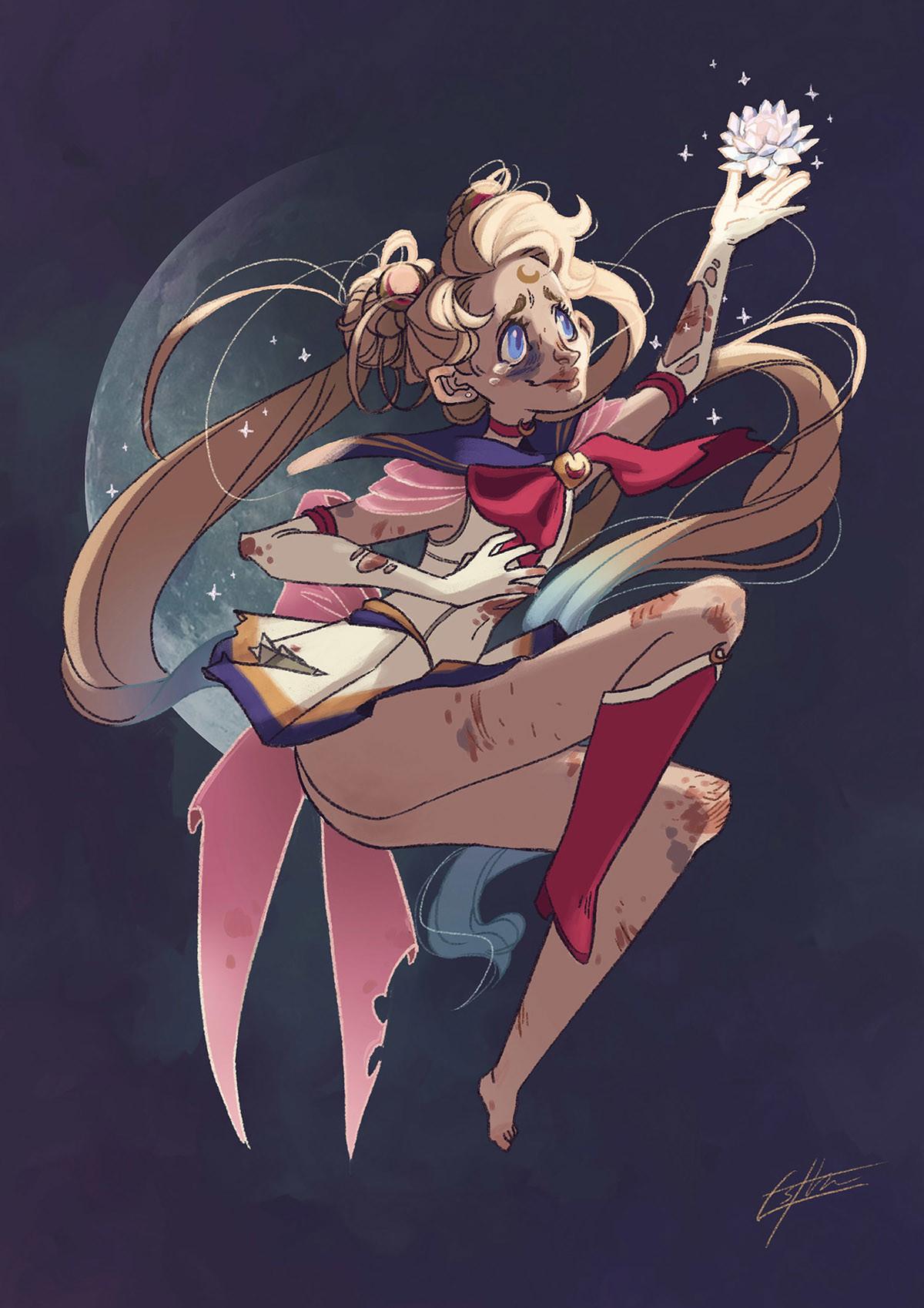 Character Design Challenge Sailor Moon : Esther vidal character design challenge sailor moon and