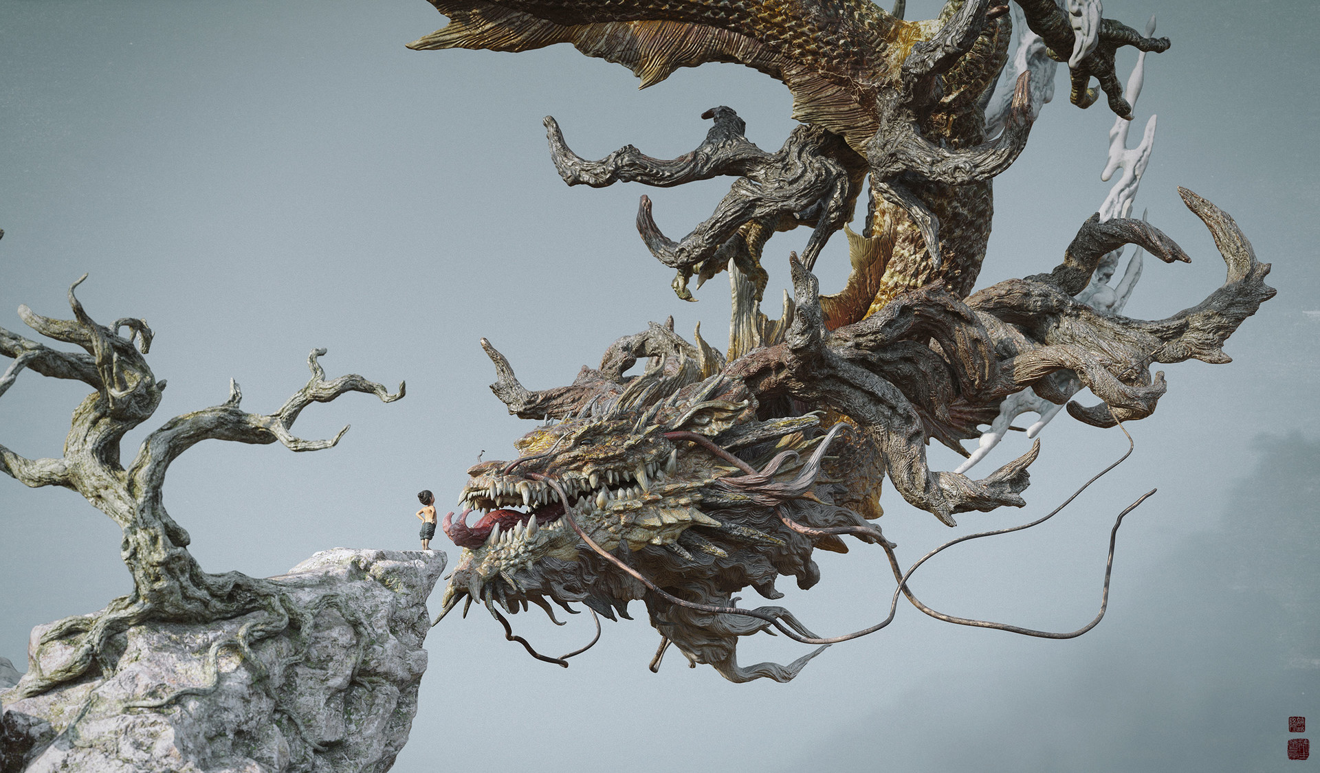 Zhelong xu boy face to the dragon web02