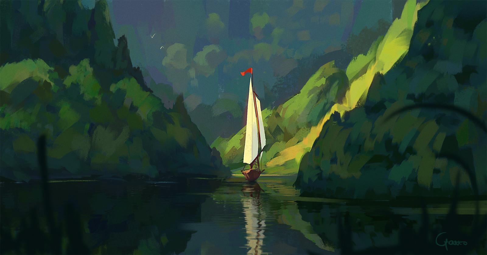 Peaceful cruise