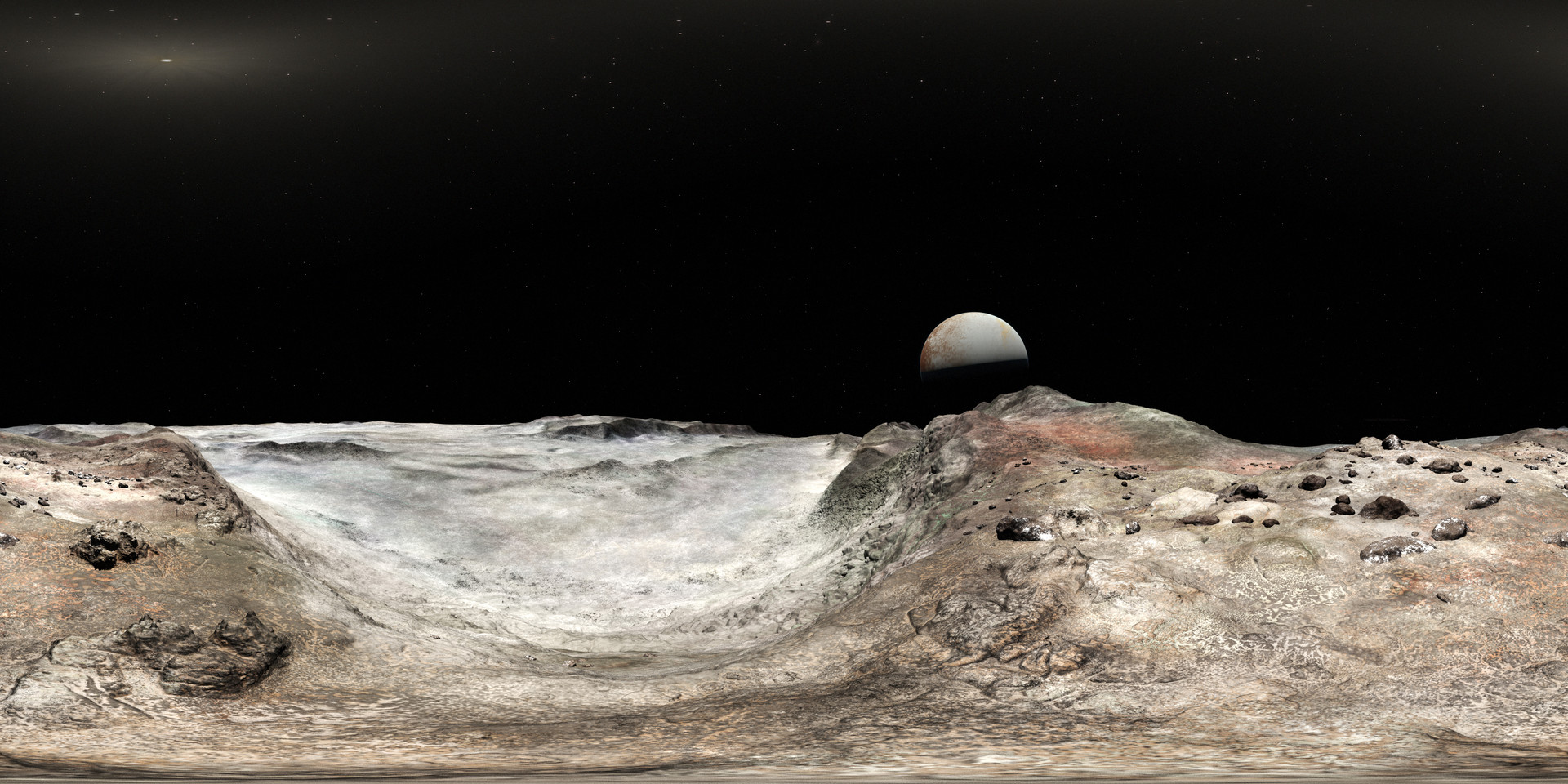 360 View of Pluto from Charon