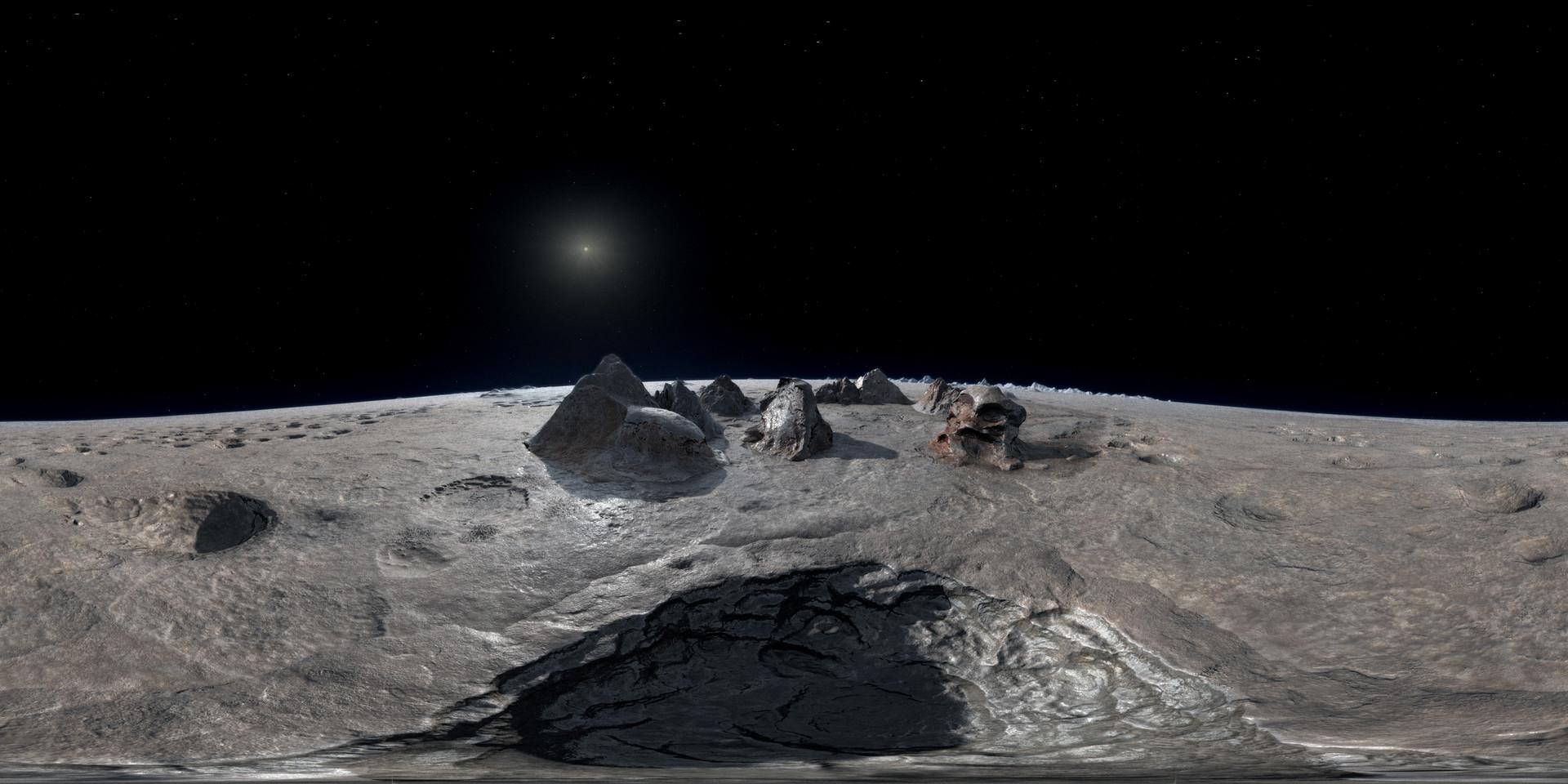 Sublimation pit on Sputnik Planum