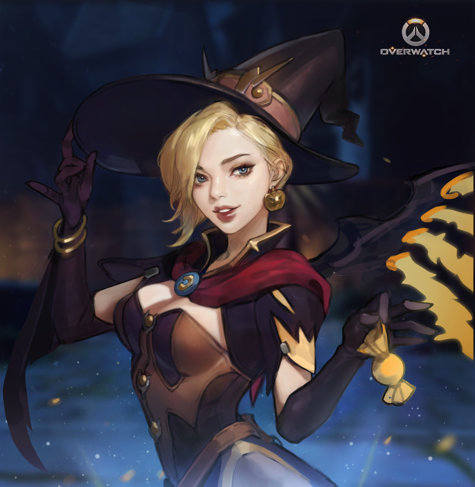 Monable . - Overwatch -Witch Mercy