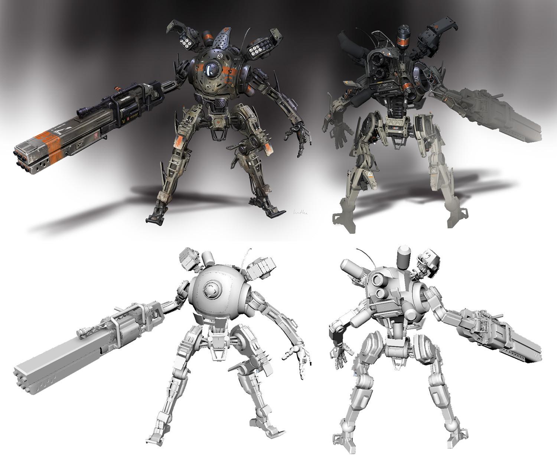 Concept Art Titanfall 2 Mechs