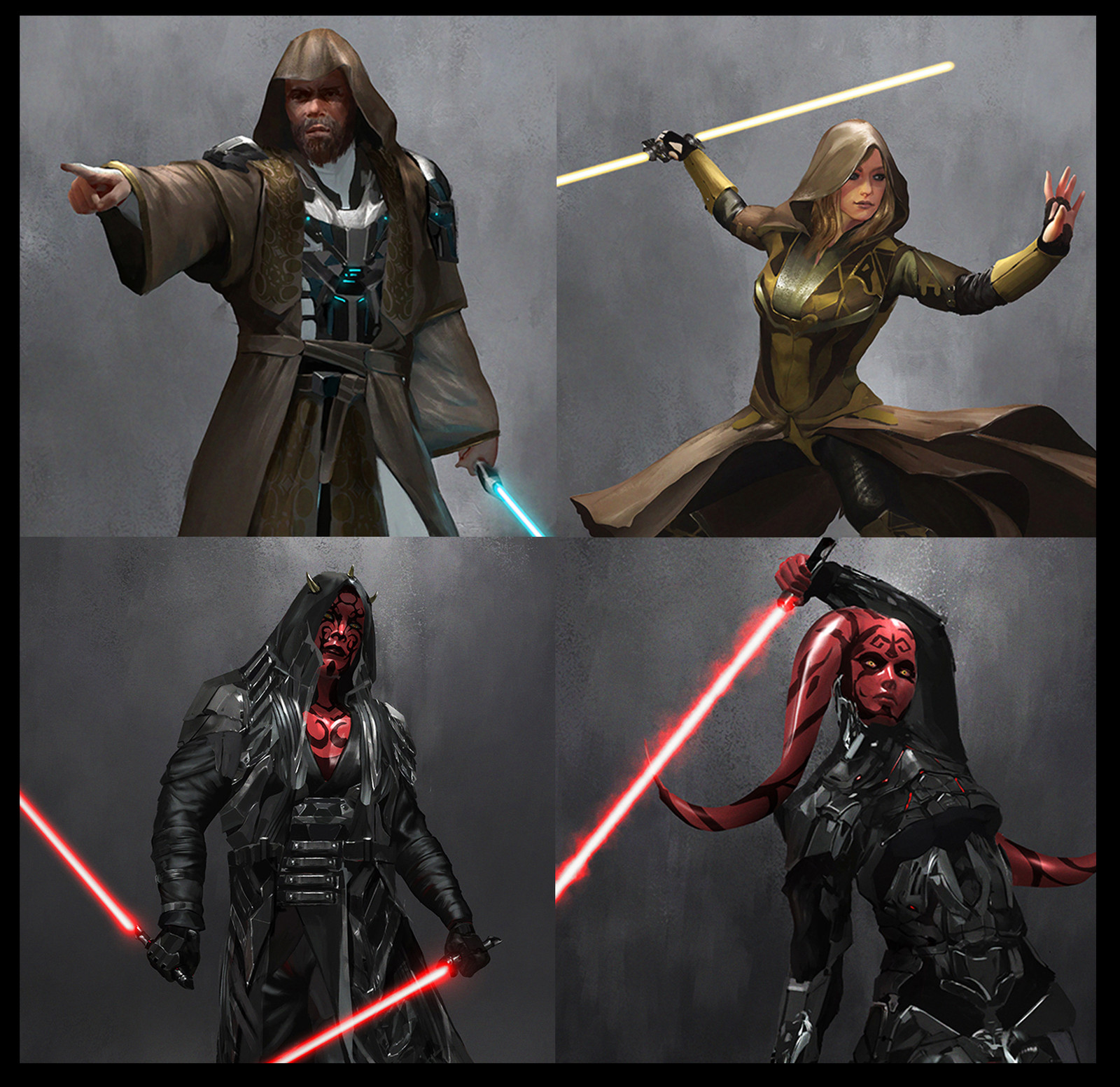 Jedi Sith Concept Fan Design
