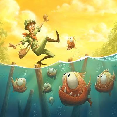 Tomek larek piranhas tomek larek illustration