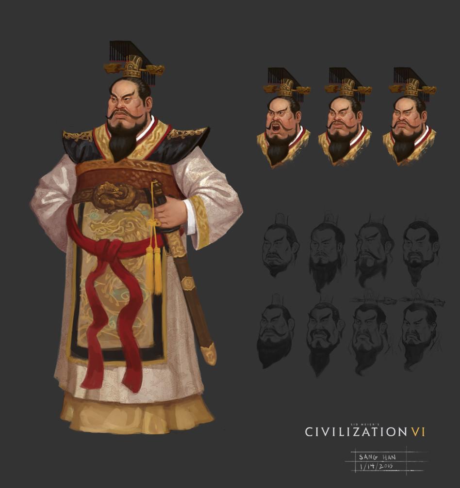 Civ 6 Leader Qin
