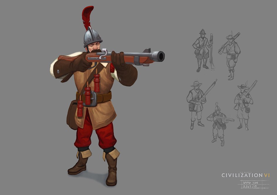 Civ 6 Musketman
