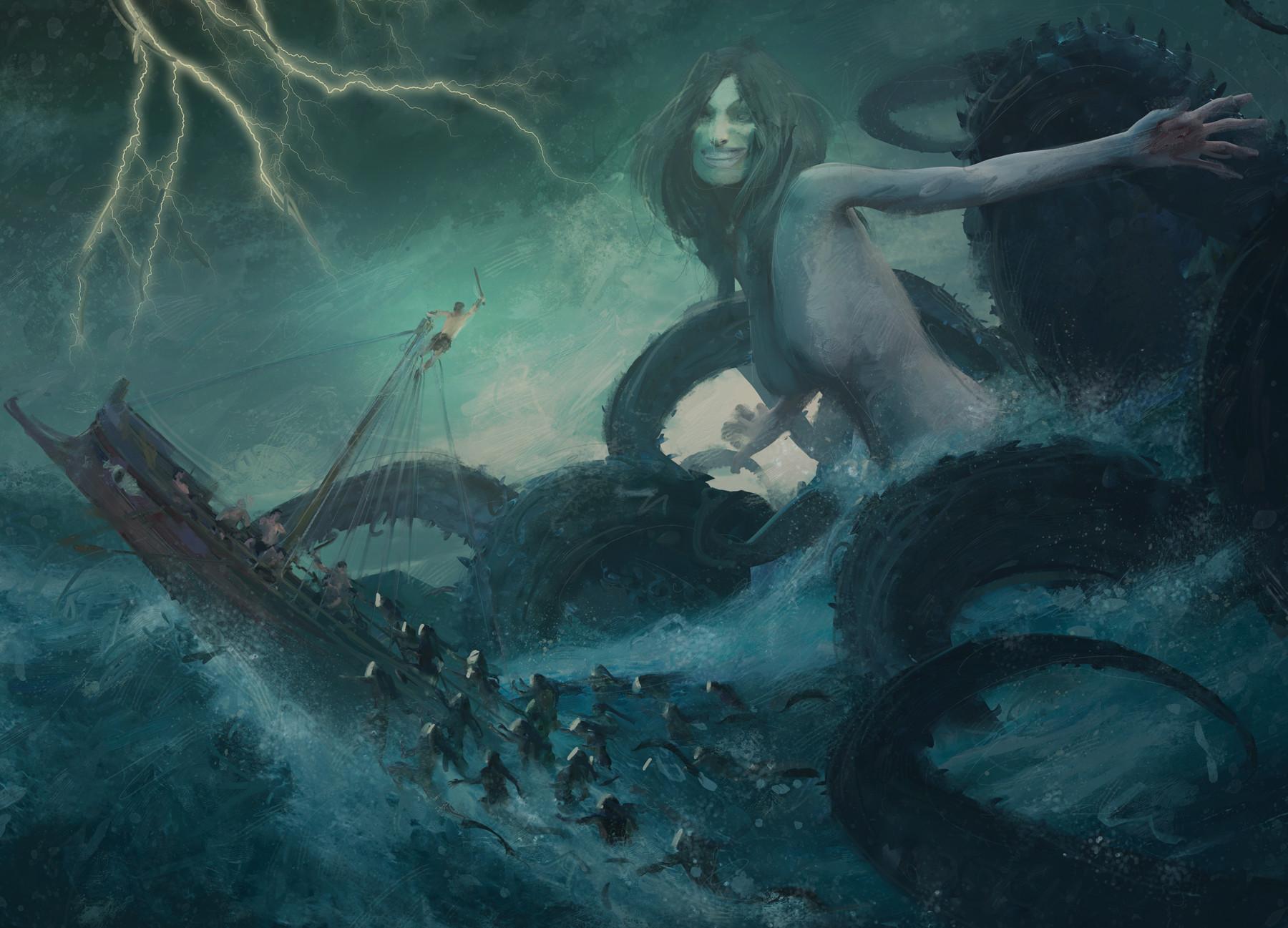 Guillem h pongiluppi board cover mythic battles poseidon concept1