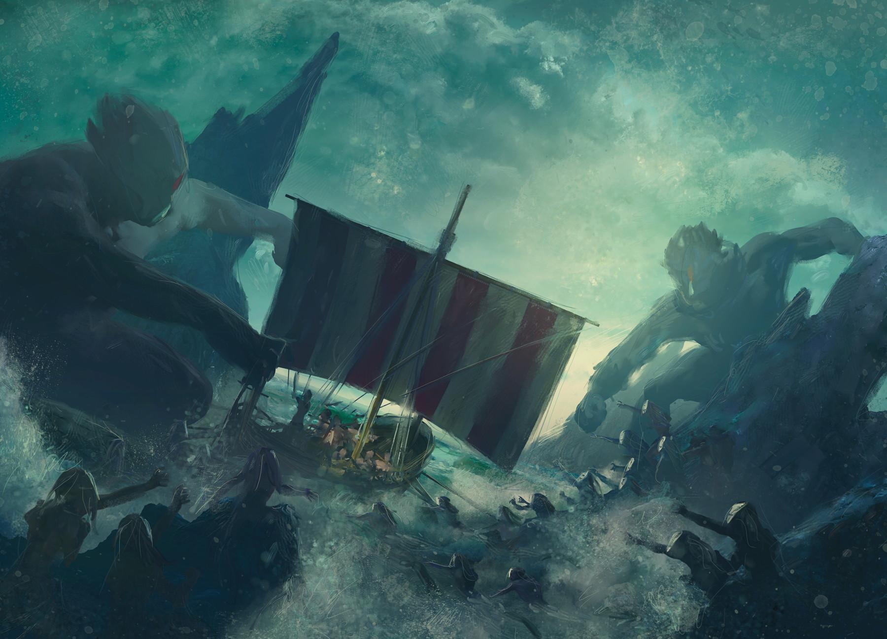 Guillem h pongiluppi board cover mythic battles poseidon concept3