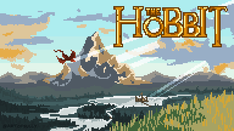 'The Lonely Mountain' - The Hobbit Pixel Art