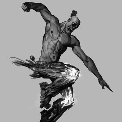 Andrei riabovitchev postapocaliptic hero action pose v03