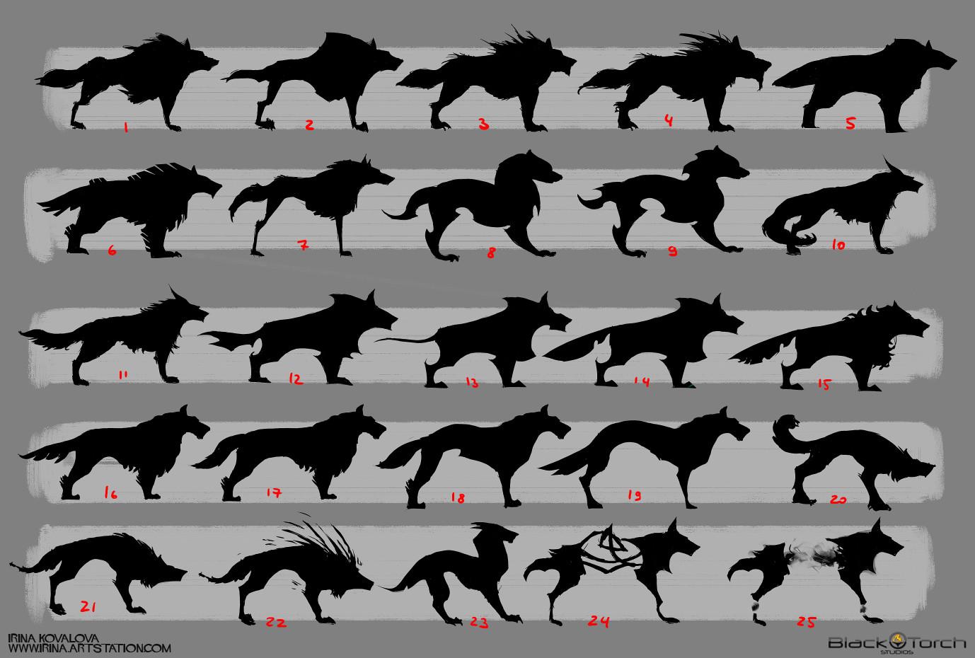 Irina kovalova bts wolf conceptart ikovalova 2