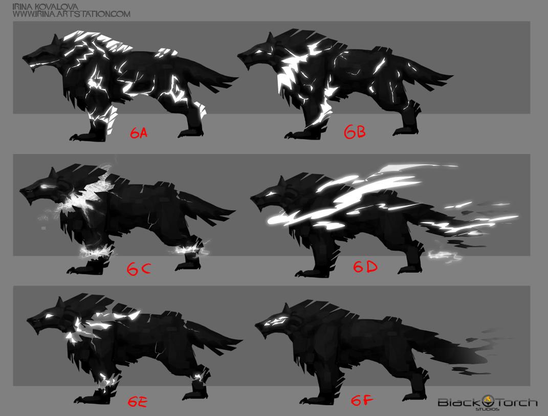 Irina kovalova bts wolf conceptart ikovalova 4