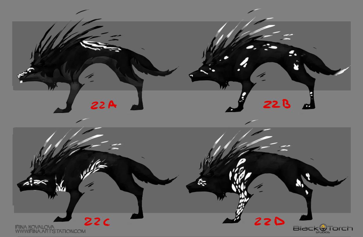 Irina kovalova bts wolf conceptart ikovalova 5