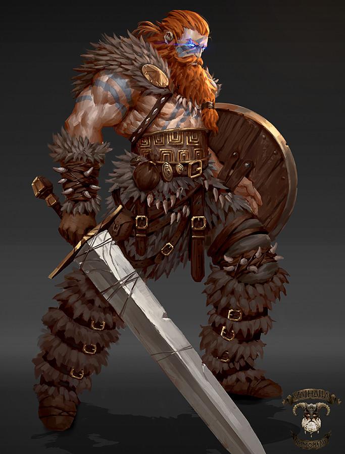 D Artiste Character Design Download : Artstation viking concepts valhalla immortals george