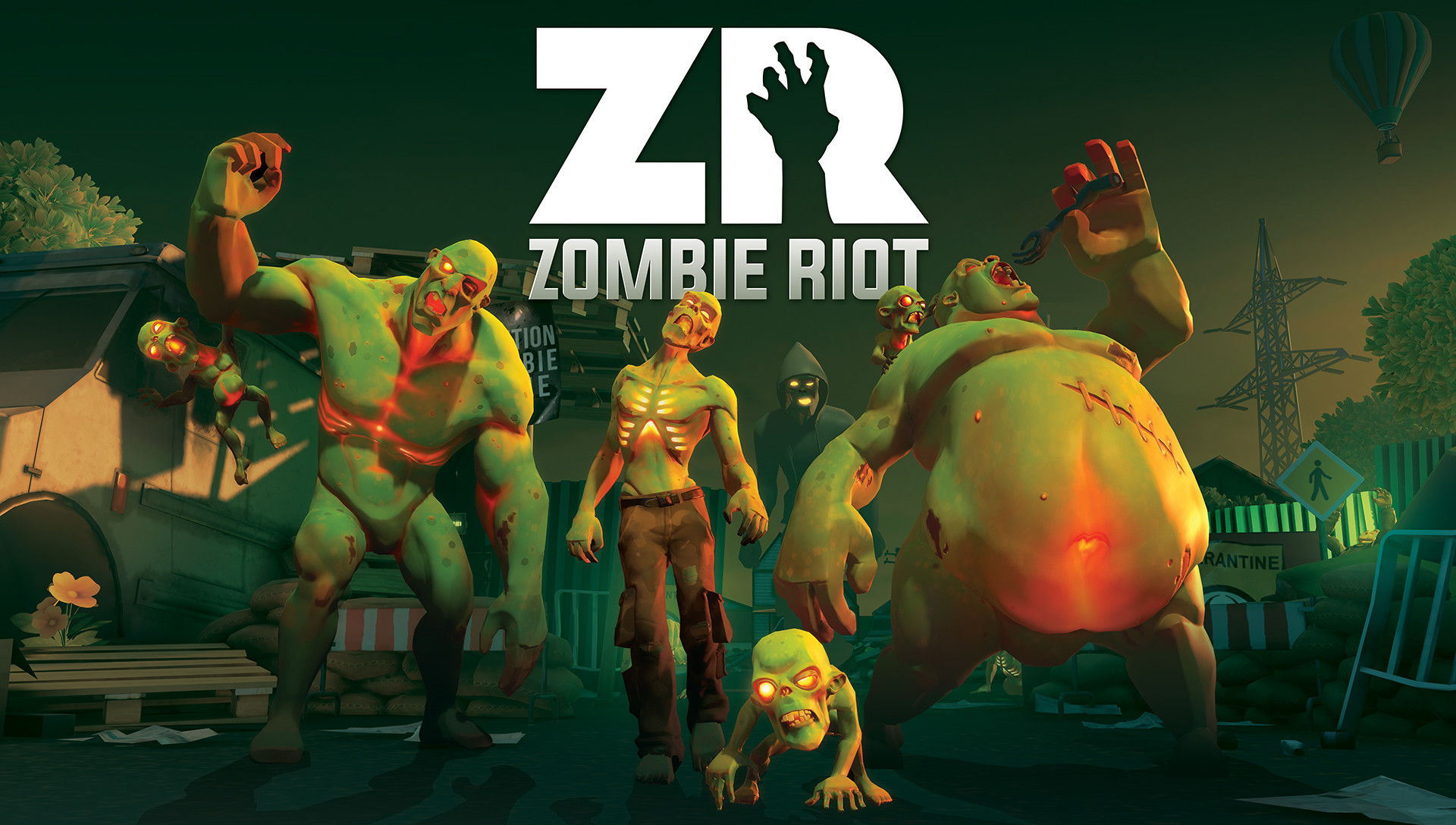 Promotional Poster Shots - I was responsible for Offline Rendering of Zombies, Screen Capture of Environment, Post,Workup, Composition and Lighting, as well as weapons and environment objects and materials.