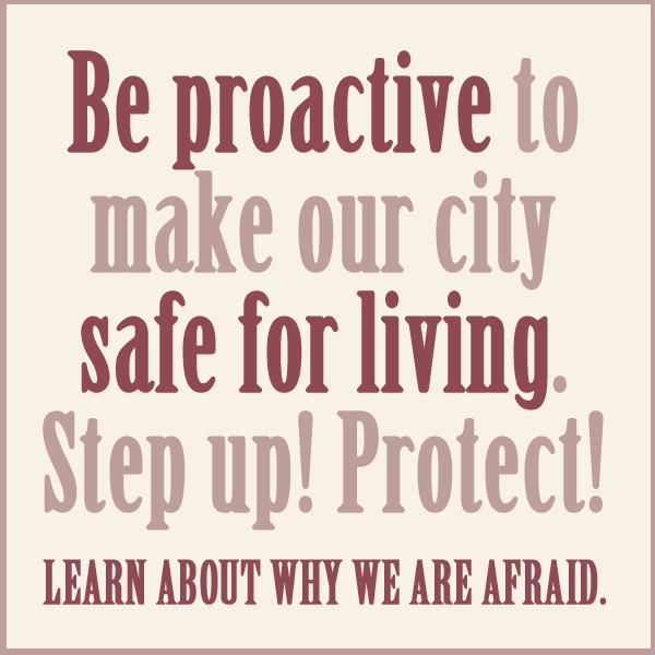 Hazard protestsign safeforliving