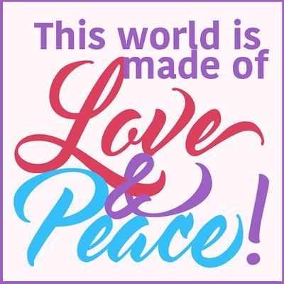 Hazard protestsign love peace