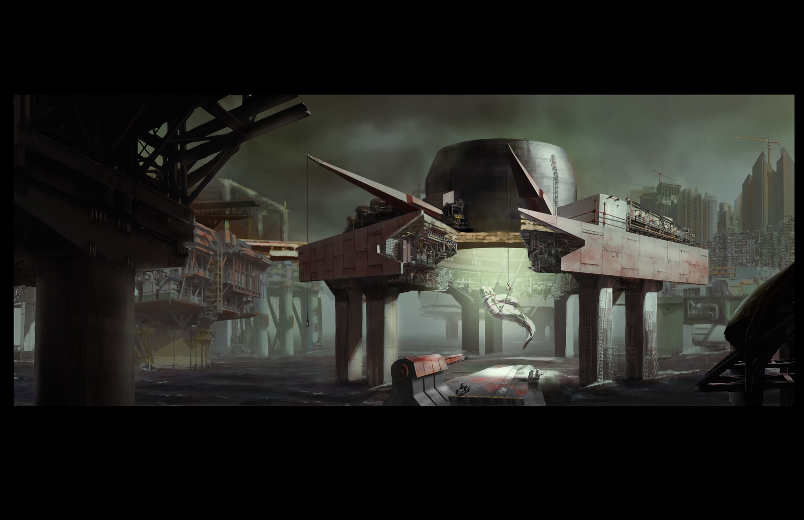 Moby Dick Environment Reversal Concept - Whale Processing Platform