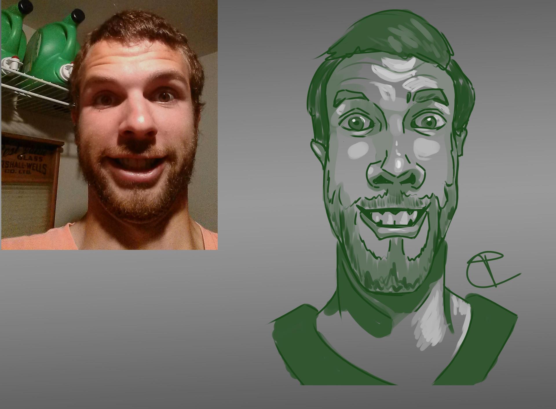 Travis clarke green travis caricatures