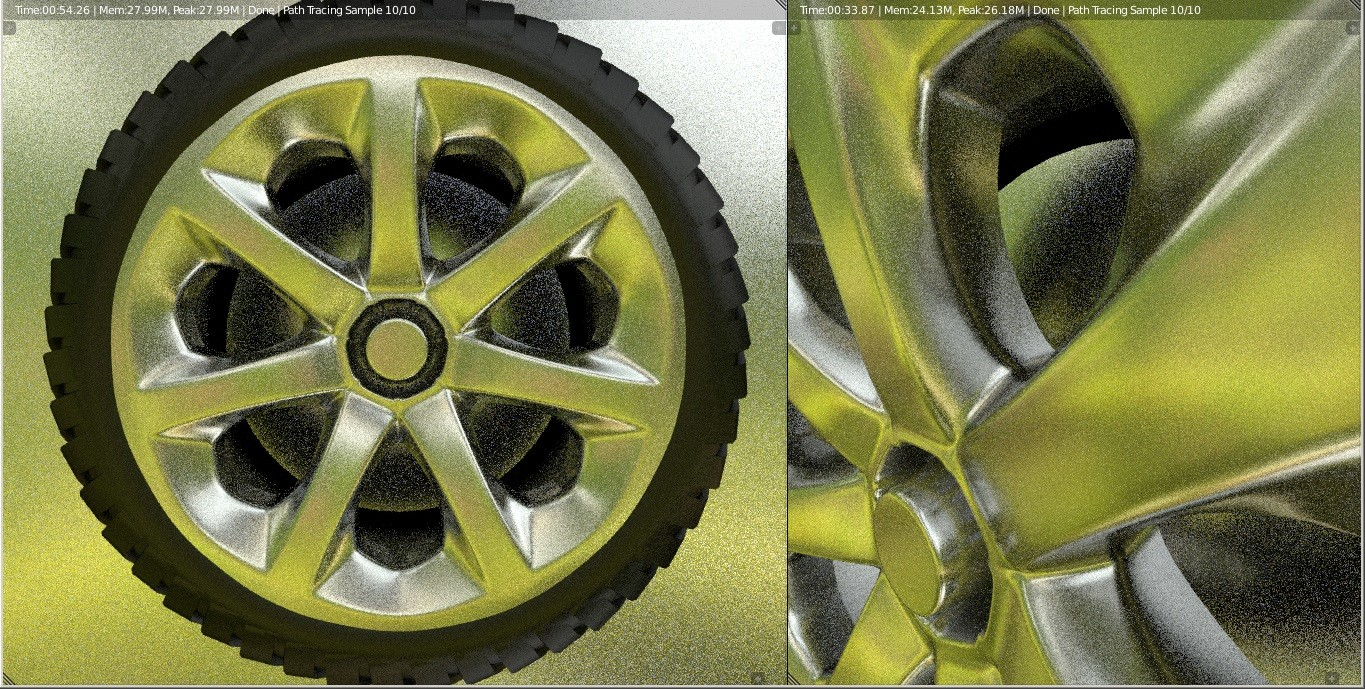 A real-time render of the wheel.
